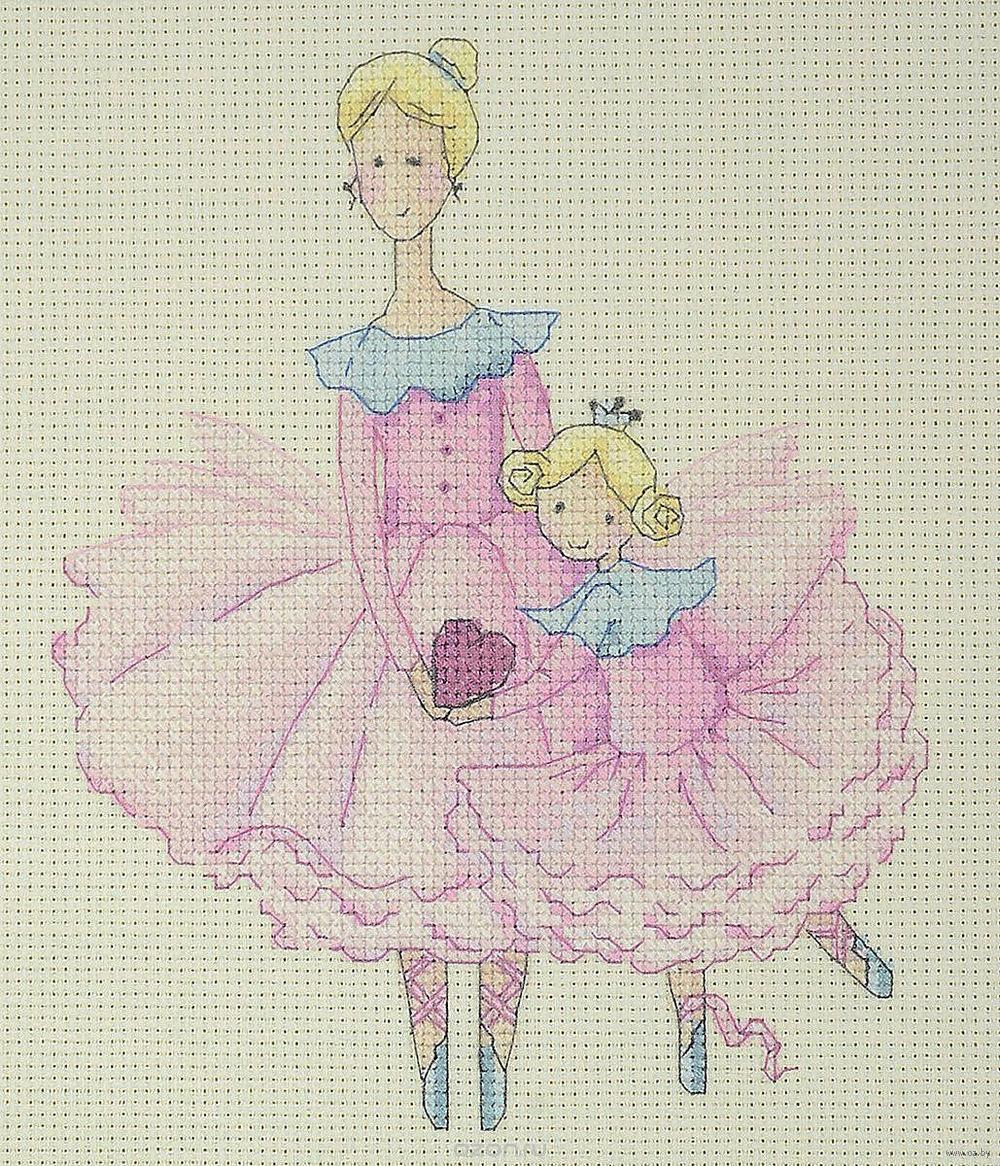 Мама и дочка вышивка крестом