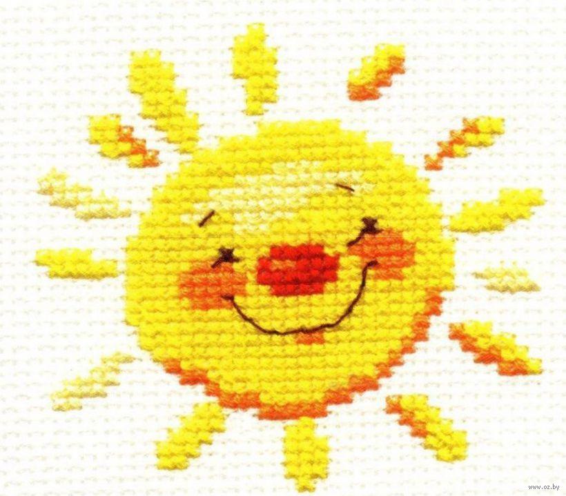 Вышивка крестиком солнышко