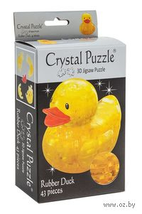 "Пазл-головоломка ""Crystal Puzzle. Желтая уточка"" (43 элемента)"