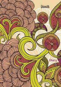 """Ежедневник недатированный """"Valentina. Язык цветов"""" (А6+, 168 листов)"""