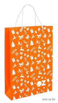 """Пакет подарочный бумажный """"Символы Нового года"""" (22х31,5х8 см)"""