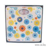 Весы бытовые в металлическом корпусе (луговые цветы)