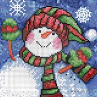 """Алмазная вышивка-мозаика """"Снеговичок"""""""