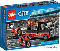 """LEGO. City. """"Перевозчик гоночных мотоциклов"""""""