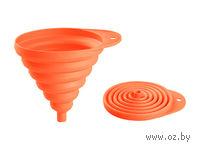 Воронка пластмассовая складная (130 мм; мандарин)