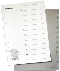 Разделитель пластиковый А4 (сортировка по цифрам 1-12)