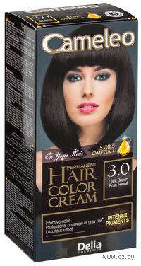 """Крем-краска для волос с маслом арганы """"Cameleo"""" 3.0 (темно-коричневый)"""