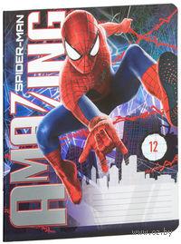 """Тетрадь в линейку """"Spider-man"""" 12 листов"""