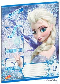 """Тетрадь в линейку """"Frozen"""" 12 листов"""