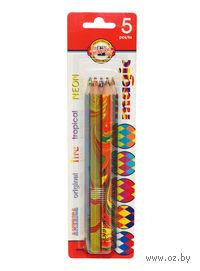 Цветные карандаши MAGIC с многоцветным грифелем (5 цветов)