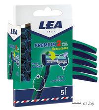 Станок для бритья одноразовый с подвижной головкой LEA II Comfort Men (5 шт)