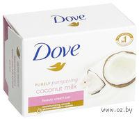 """Крем-мыло туалетное DOVE """"Кокосовое молоко с лепестками жасмина"""" (135 г)"""