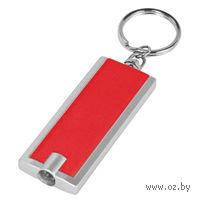 Брелок-фонарик (прямоугольный, красный)