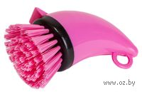 Щетка для мытья посуды пластмассовая с дозатором (6*10 см, арт. SK-0613)