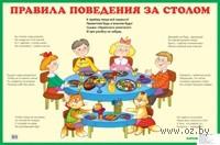 Правила поведения за столом. Плакат. М. Дружинина