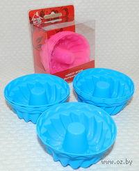 Набор форм для выпекания силиконовых (6 шт, 7*7*2,5 см, арт. SE-446)