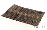 Подставка сервировочная бамбуковая окрашенная (30*45 см, арт. 4900009)