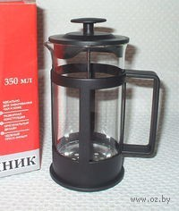 Кофейник с прессом, стекло/пластмасса, 350 мл (арт. 321004-350)