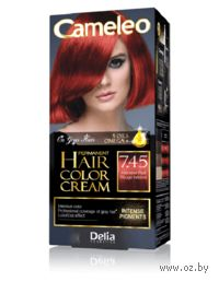 """Крем-краска для волос с маслом арганы """"Cameleo"""" 7.45 (интенсивный красный)"""