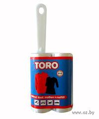"""Щетка для одежды пластмассовая """"TORO"""" (20*10 см) + сменный валик"""