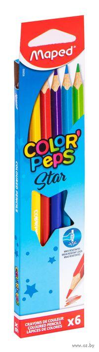"""Цветные карандаши """"Color Peps"""" (6 штук)"""