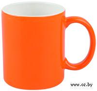 Кружка (320 мл, цвет: оранжевый, белый)