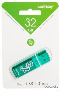 USB Flash Drive 32Gb SmartBuy Glossy series (Green)