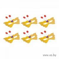 Очки-бабочки карнавальные блестящие