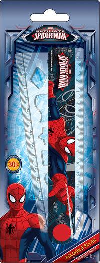 """Линейка раскладная с трафаретом """"Spider-man Classic"""" (30 см)"""
