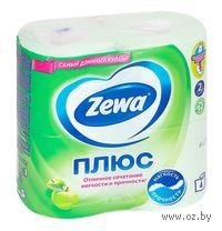 """Туалетная бумага Zewa Плюс """"Яблоко"""" (4 рулона)"""