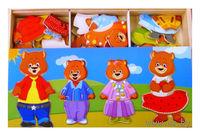 """Деревянная игрушка """"Четыре медведя. Набор медвежат"""""""