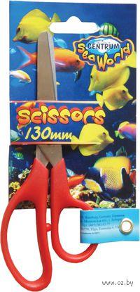 """Ножницы """"SEA WORLD"""" детские с закругленными концами с линейкой (13 см)"""