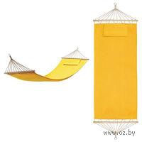 """Гамак с подушкой """"МАЙАМИ"""" в сумке, 100% хлопок (желтый)"""