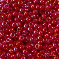 Бисер №94190 (красный, радужный)