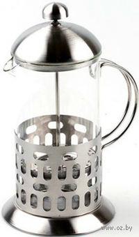 Кофейник с прессом, стекло/металл, 350 мл (арт. YM-034/350)