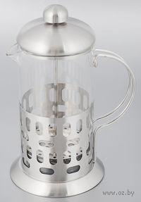 Кофейник с прессом, стекло/металл, 600 мл (арт. YM-034/600)