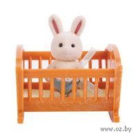 """Игровой набор """"Малыш зайчонок с кроваткой"""""""