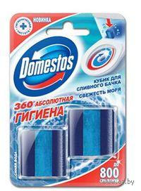 """Чистящий туалетный кубик Domestos """"Свежесть моря"""" (2 кубика по 50 г)"""