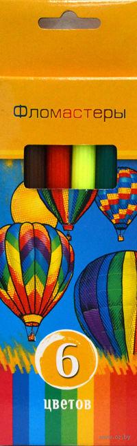 """Фломастеры """"Солнечный креатив"""" в картонной коробке (6 цветов)"""