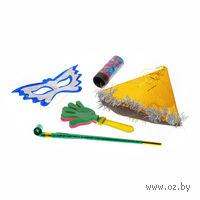 Набор карнавальный (колпак с мишурой, маска, длинный язычок, хлопушка)
