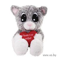 """Мягкая игрушка """"Влюбленный котик"""" (20 см)"""