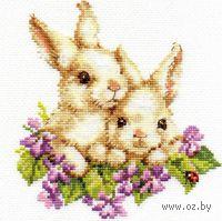 """Вышивка крестом """"Крольчата"""""""