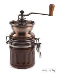 Кофемолка механическая с металлическими жерновами с керамической банкой (8х17 см)