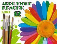 Акриловые краски (12 цветов)