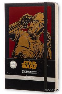 """Ежедневник Молескин """"Star Wars"""" на 2016 год (большой; твердая черная обложка)"""
