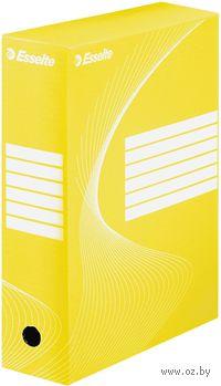 Коробка архивная Esselte (желтая, 80 мм)