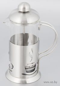 Кофейник с прессом, стекло/металл, 350 мл (арт. YM-065/350)