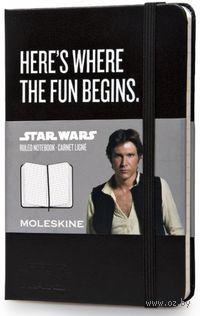 """Записная книжка Молескин """"Star Wars"""" в линейку (карманная; твердая черная обложка)"""
