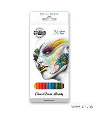 """Цветные карандаши """"FANTASY"""" в картонной коробке (24 цвета)"""