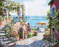 """Картина по номерам """"Терраса у моря"""" (400х500 мм)"""